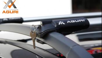 Современный багажник (поперечины) на рейлинги Aguri Prestige