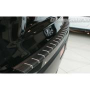 Накладка на бампер (carbone) Nissan Juke (2010-2014)