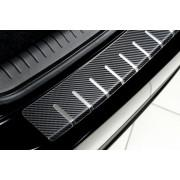 Накладка на задний бампер (carbon) Mitsubishi Outlander III (2012-2015)