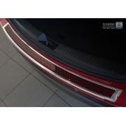 Накладка на задний бампер (карбон) Mazda CX-5 (2012-/2014-)