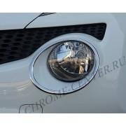 Накладки на фары (нерж. сталь) Nissan Juke