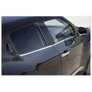 Молдинги на стекла дверей Nissan Juke (2010-)