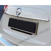 Накладка над номером на крышку багажника Nissan Juke