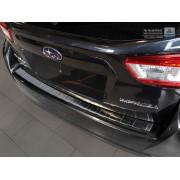 Накладка на задний бампер (черная) Subaru Impreza V GT FL (2017-)