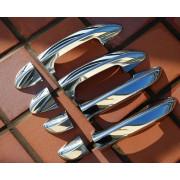 Накладки на дверные ручки (нерж.сталь) VW GOLF 6 (2008-2012)